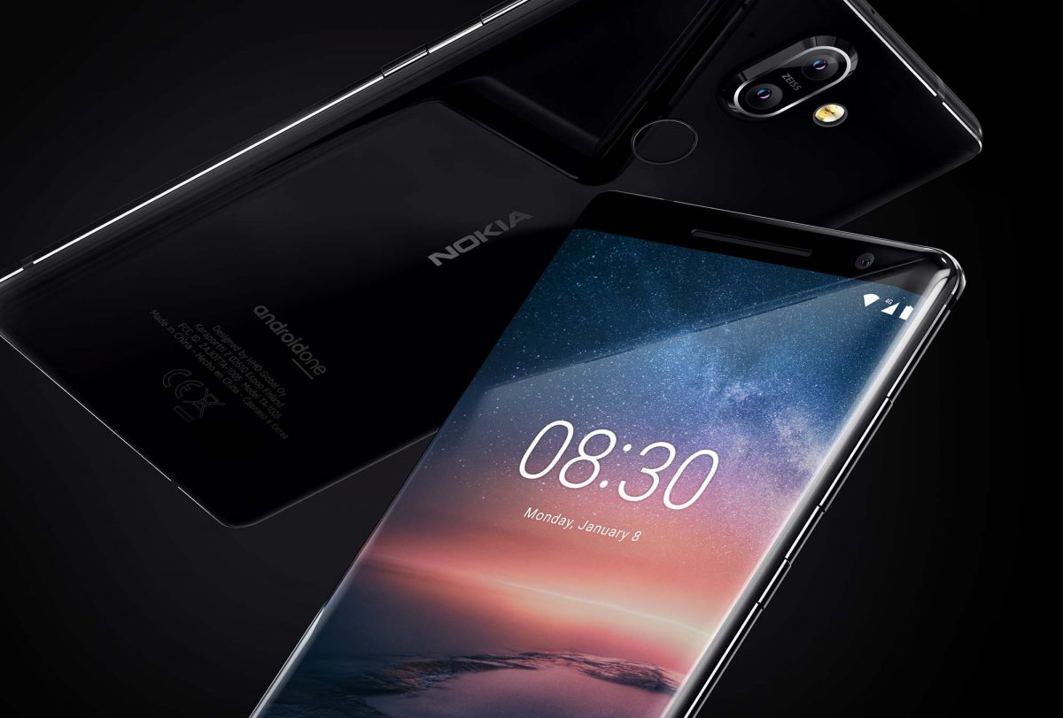 Two Nokia 8 Smartphones