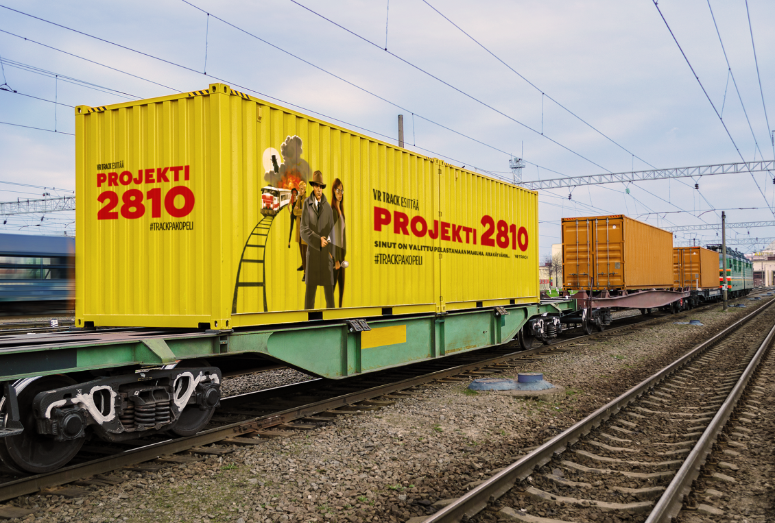 yellow train container on rails